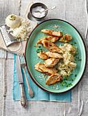 Chicken filet with turnip