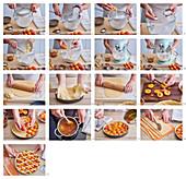Lattice Apricot Pie, step by step