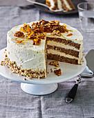 Walnut and Cinnamon Layer Cake
