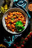 African summer pumpkin stew