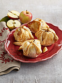 Baked apples in French pastry