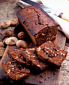 Bisciola (Italian bread with walnuts and figs)