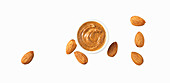 Natural almond butter and whole almonds