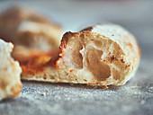 Crispy pizza dough with biga