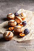 Plum Cardamom Muffins