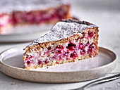 A piece of currant cake