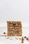 A stack of nut bars