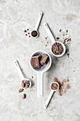 An arrangement of chocolate