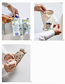 Upcycling: making gift packaging out of milk cartons