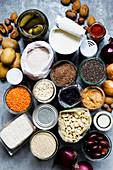 Vegan pantry staple ingredients