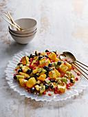 Tropical Gold Leaf Fruit Salad