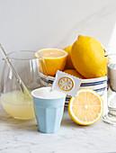 Ingredients for lemon granita