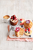 Four colorful pastry ideas