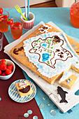 Schatzkarten-Kuchen zur Piraten-Party