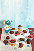 Chocolate balls - sweet cannonballs for a pirate-themed party