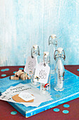 Homemade message in a bottle - pirate party invitations