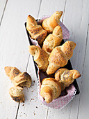 Croissants with sesame seeds