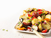 Potato salad with mediterrean vegetable