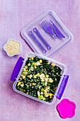 Kale and Corn Quinoa Salad 'To Go'