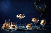 Caramel trifle dessert