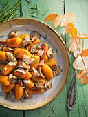Kürbis-Gnocchi mit Pilzen und Parmesan