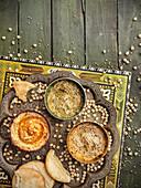 Various types of hummus