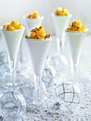 Lemon mousse with orange tartare