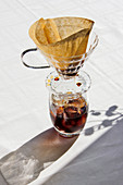 Cold brewed coffee with orange zest