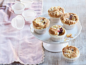 Fruit muffins with crumb