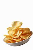 Low sodium ruffled potato chips