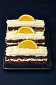 Orange slices with Grand Marnier cream