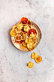 Dried Citrus (Grapefruit, Limes, Lemon and Oranges) and Dried Pineapple Flowers
