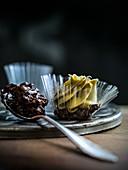 Chocolate coated puffed rice