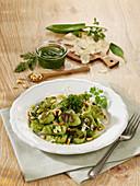 Frankfurt green herb gnocchi