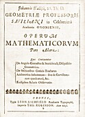 Wallis's Operum Mathematicorum, 1657