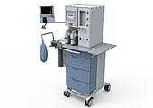 Mobile anaesthetic machine, illustration
