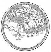 World map by Mohammed al-Idrisi, 1154