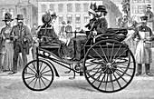Benz Patent-Motorwagen, 19th century illustration