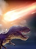 Death of the dinosaurs, illustration