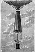 Parachute, 19th century illustration