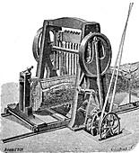 Gang saw, 19th century illustration