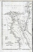 Map of Egypt and the Holy land , 1850