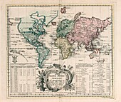 General world map by Euler, 1753