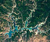 Shasta Lake, California, USA, satellite image