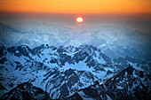 Mountains at sunset, French Pyrenees