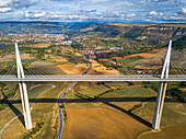 Millau Viaduct, Tarn Valley, Aveyron, France