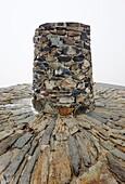 Snowdon (Yr Wyddfa) summit trig point, Wales, UK