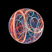 Energy ball, conceptual illustration