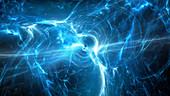 Multidimensional plasma, conceptual illustration