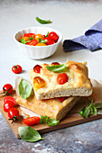 Focaccia with date tomatoes